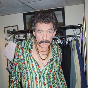 Dressing room, Saturday Night Live, 16 March 2002<br>Ian McKellen is a Turkish disco owner