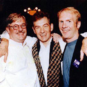 1994,   With Armistead Maupin (TALES OF THE CITY) and Terry Anderson at Gay Games, NYC