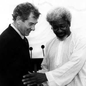 With Nobel laureate Wole Soyinka, Stratford-upon-Avon