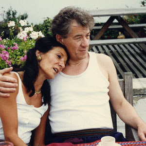 With Jane Lapotaire, London 1990