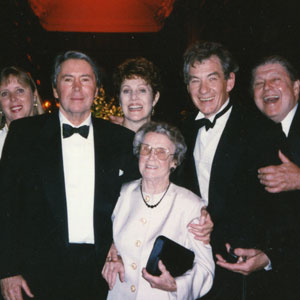 With Brian Bedford, Lynn Redgrave and Gladys McKellen (stepmother) at the Golden Quill Award, Washington DC