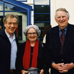 2000,   With Sir Edmund Hillary and Lady Hillary, Wellington