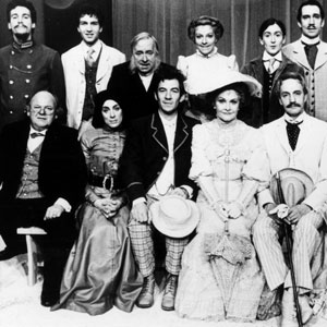 Standing L to R: Simon Dutton, Greg Hicks, Hugh Lloyd, Selina Cadell, Julie Legrand, Jonathan Hyde, Peter Needham, Tristram Wymark. Sitting L to R: Roy Kinnear, Eleanor Bron, Ian McKellen, Sheila Hancock, Edward Petherbridge, Claire Moore, Laurence Rudic.
