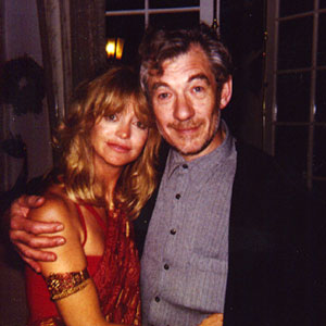 With Goldie Hawn at a party in Bel Air, California