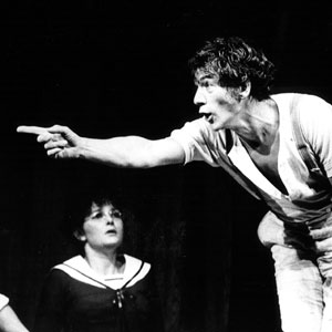 1984, WILD HONEY: L to R: Karl Johnson (Dr. Triletzky), Abigail McKern (Marya Yefimovna), Ian McKellen (Platonov)  - Photo by John Haynes