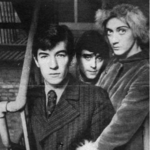 1967, THE PROMISE (Broadway): Ian McKellen, Ian McShane, Eileen Atkins at the stage-door of Henry Millers Theatre NYC  - Photo by Duane Michals
