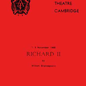1968, RICHARD II: Programme Cover
