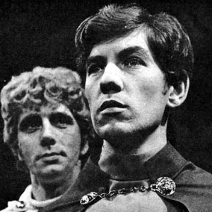 1969, THE BACCHAE: Desmond Gill as Dionysus and Ian McKellen as Pentheus