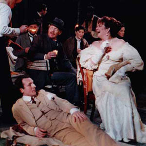 1998, THE SEAGULL (1998): Will Keen, Timothy Walker, Peter Laird, Paul Battacharjee, Ian McKellen, Susie Baxter, Rhashan Stone, Clare Higgins, Clare Swinburne  - Photo by Keith Pattison