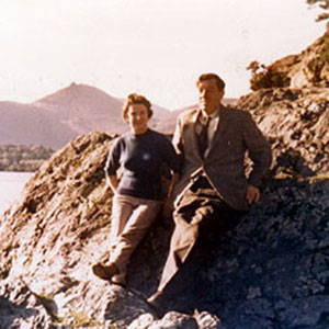 Denis Murray McKellen (father) on holiday in the Lake District with second wife Gladys