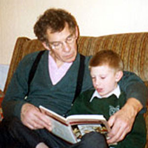 Reading to my nieces son Robert Blackman