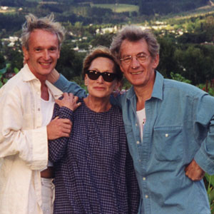 1998,   With Sean Mathias and Sian Phillips in Stellenbosch wine-country near Cape Town, South Africa