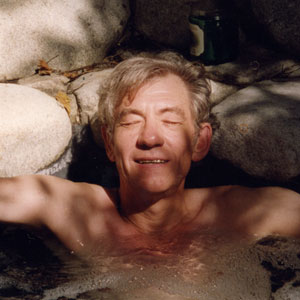 1998,   In the hot tub, Hillcrest Ave, Hollywood  - Photo by Stephen Moore