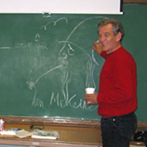 For their appearance with the Gay Mens Chorus at Everett Middle School in San Francisco, Sharon Gless (Cagney & Lacey Queer as Folk) and Ian McKellen shared a dressing room in a converted classroom.  In between shows they autographed the blackboard.