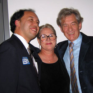 Brian Cheu (Director LGBT Community Center), Sharon Gless (Queer as Folk, Cagney & Lacey) and Ian McKellen