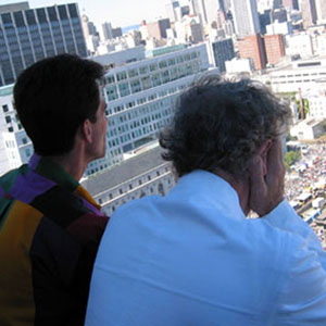 On top of City Hall with County Supervisor Mark Leno, SF Pride