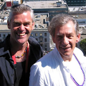 With Steve Thomson (physical therapist on LORD OF THE RINGS and X-MEN 2) on top of City Hall overlooking SF Pride celebration