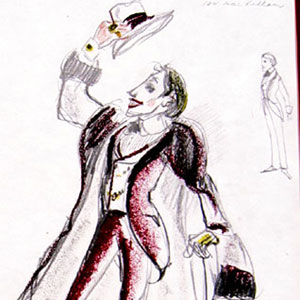 1974, THE MARQUIS OF KEITH: Voytek's costume design for the Marquis  - Sketch by Voytek