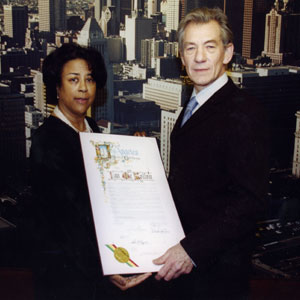 Receiving a proclamation from Jan Perry, City Councilmember, 9th District Los Angeles