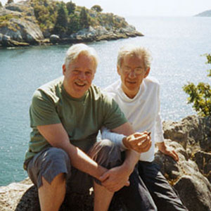 With Armistead Maupin, Vancouver