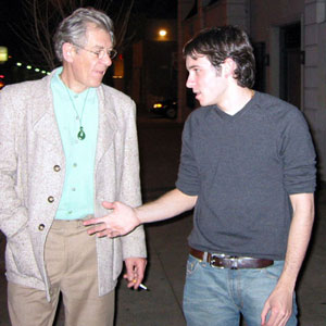 Ian McKellen and Daniel Harris, Los Angeles, February 2002