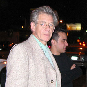 Ian McKellen and Michael Dougherty, Los Angeles, February 2002