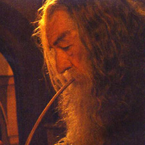 Gandalf with pipe