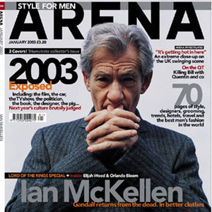 Arena magazine cover, January 2003