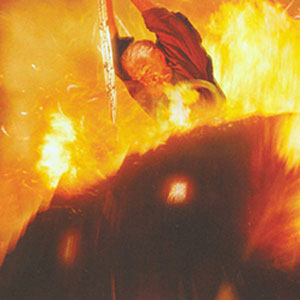 Gandalf the Grey fights the Balrog