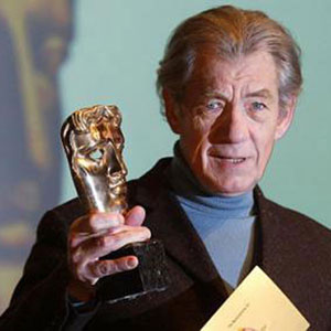 2003,   Ian McKellen announces the nominees for the 2003 BAFTA Awards