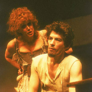Doll Common (Susan Dury) and Face (Ian McKellen)