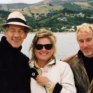 2000, THE LORD OF THE RINGS: THE FELLOWSHIP OF THE RING: Ian McKellen, <a href=http://www.kahikatea.com target=_blank>Jane Yates</a>, Keith Stern in Akaroa NZ  - Photo by Armistead Maupin