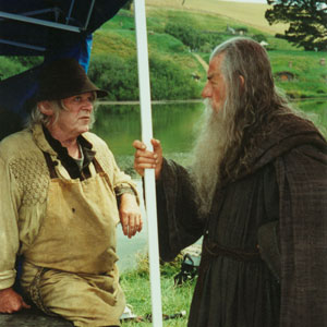 2000, THE LORD OF THE RINGS: THE FELLOWSHIP OF THE RING: Hobbit and Gandalf