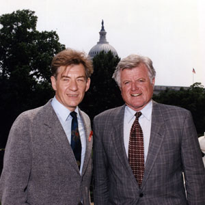 With Senator Ted Kennedy