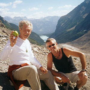 With Steve Thompson, Canadian Rockies