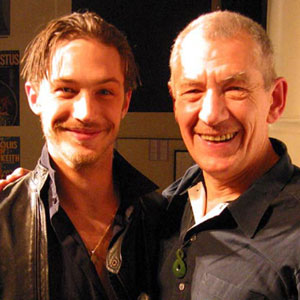 2003, An Audience with Ian McKellen: With Tom Hardy after the show  - Photo by Keith Stern