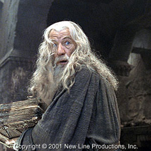 2001, THE LORD OF THE RINGS: THE FELLOWSHIP OF THE RING: Mines of Moria  - Photo by Pierre Vinet/NLC Productions