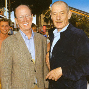 2003, EMILE: In Cannes, with John Brock (CEO Interbrew), May 2003  - Photo by Courtesy Stella Artois Screen