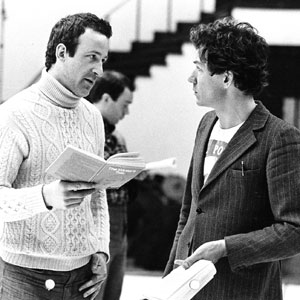 1976, THE WINTER'S TALE: Bob Peck and Ian McKellen in rehearsal