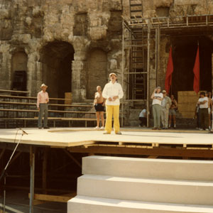 Rehearsal at the Herodus Atticus Theatre in Athens