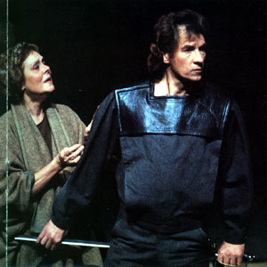 1984, CORIOLANUS (1984-5): A warrior finally brought to peace with Rome and himself by his mother Volumnia (Irene Worth)
