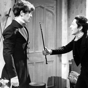 1966, DAVID COPPERFIELD (BBC-TV, 1966): Go on, hit me! David Copperfield (Ian McKellen) and Uriah Heep (Colin Jeavons)