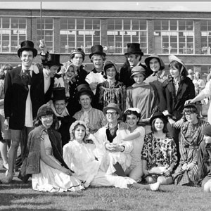 1964,   Nottingham Fete (Ian McKellen, crowned, in rear)