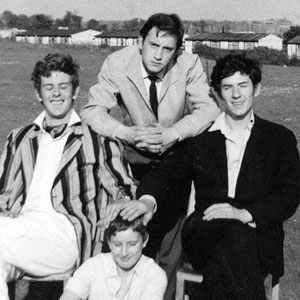 1964,   Roger Mutton, John D Collins, and Ian McKellen with a fan in Nottingham