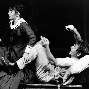 1984, WILD HONEY: Marya Yefimovna (Abigail McKern) and Platonov (Ian McKellen)