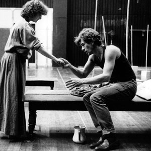 1984, WILD HONEY: In rehearsal with Abigail McKern