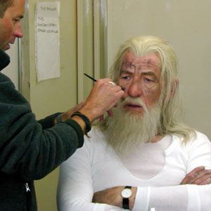 Rick Findlater makes up Gandalf the White