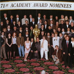 1999, GODS AND MONSTERS: Academy Awards Nominees Luncheon; Bill Condon, Lynn Redgrave, and Ian McKellen in front row just right of center