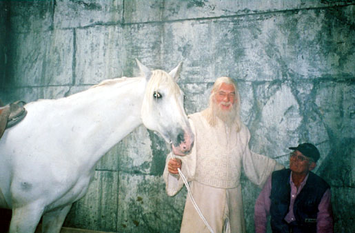 With Shadowfax and handler