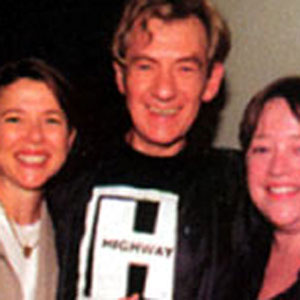 With Annette Bening and Kathy Bates, birthday celebration